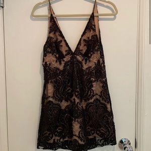 Night shimmer mini dress